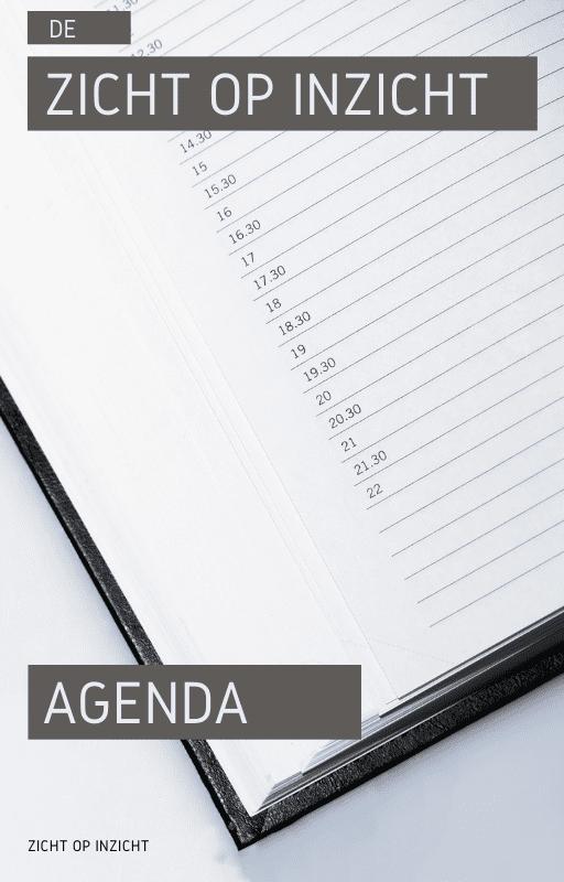 Agenda Zicht op Inzicht